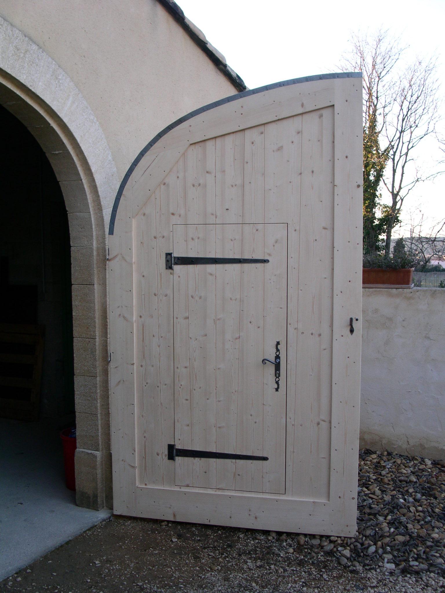 portail garage bois